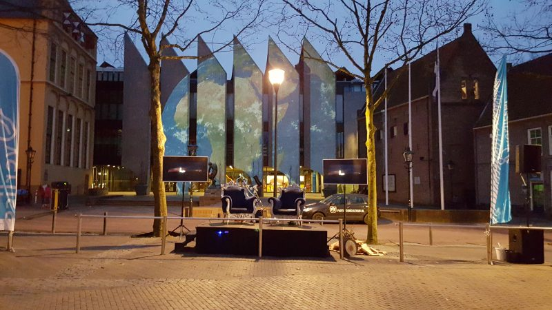 Videomapping tijdens Earth Hour